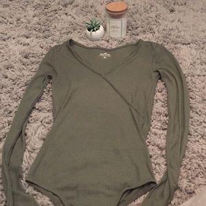 *FLASH SALE* Hollister Olive Bodysuit